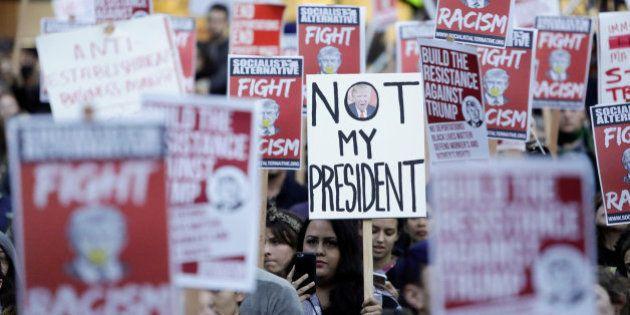 Las protestas contra Donald Trump en