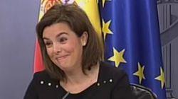 Las 15 caras de Soraya Sáenz de Santamaría al recordar que gana menos que un secretario de