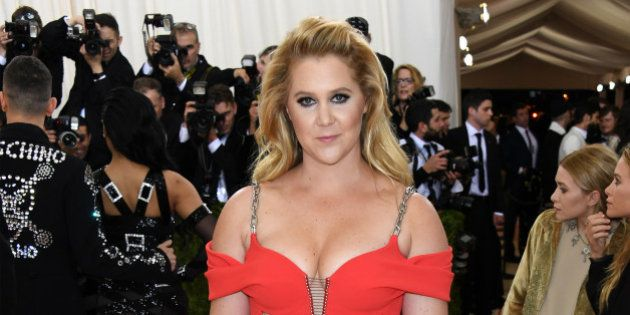 NEW YORK, NY - MAY 02: Amy Schumer attends the 'Manus x Machina: Fashion In An Age Of Technology' Costume...