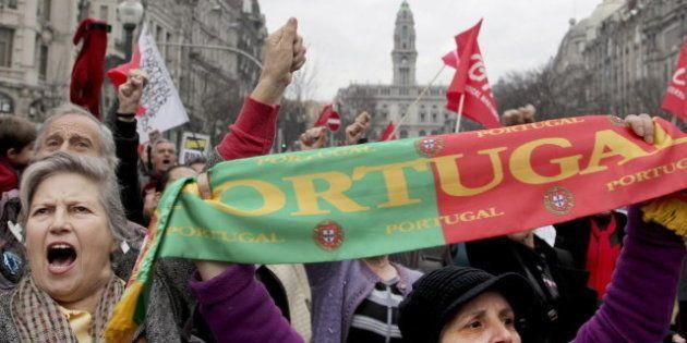 Manifestantes en todo Portugal piden un cambio de rumbo a Passos