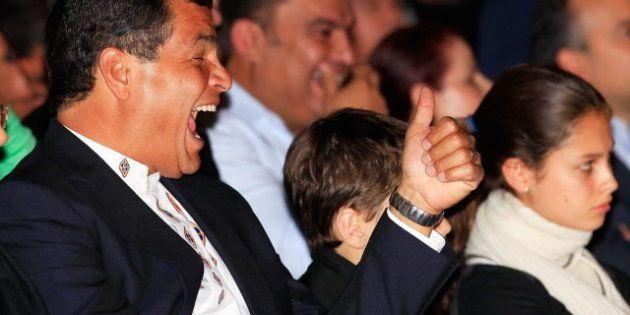 Rafael Correa, reelegido presidente de Ecuador por la buena marcha de la economía y su maquinaria