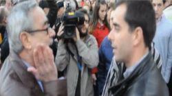 La concentración por la Guardia Civil en Ceuta acaba en esta bronca
