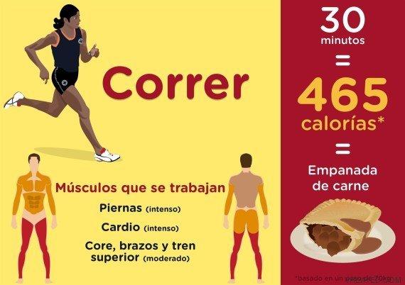 cuantas calorias gasta correr media hora