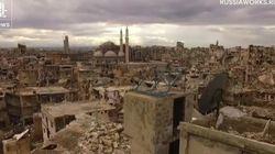 El descorazonador paseo de un 'drone' sobre la ciudad siria de