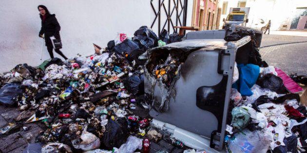 Las imágenes más impactantes de la huelga de basura de