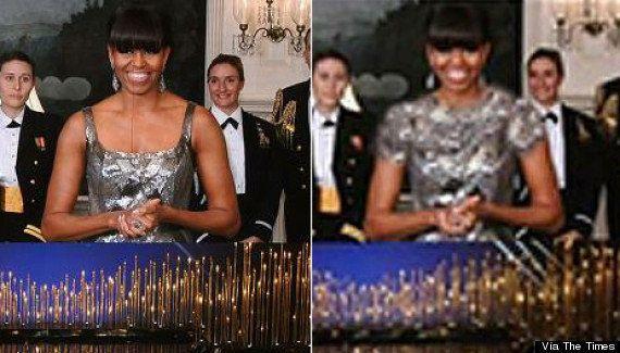 Michelle Obama: Irán modifica su imagen en los Oscar para eliminar el escote