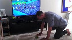 Este hombre reta a Bolt en su casa... y logra ser más rápido que