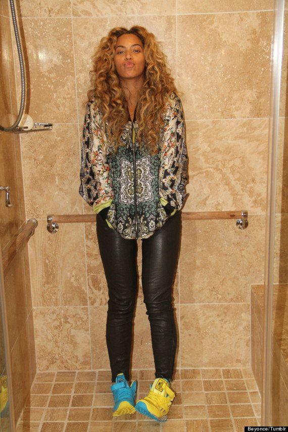 Beyoncé en la ducha: publica su foto en su Tumblr