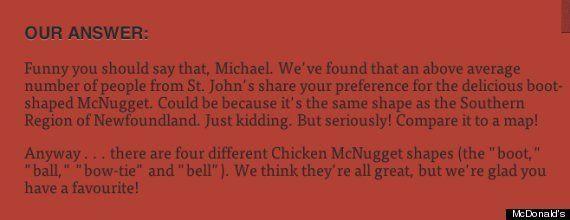 ¿Sabías que los 'nuggets' de McDonald's tienen solo cuatro formas distintas?