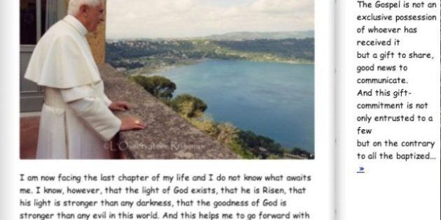 El Vaticano publica en su web un álbum de fotos escrito en Comic Sans para homenajear a Benedicto