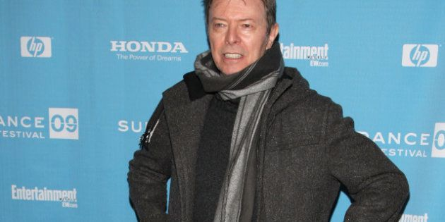 PARK CITY, UT - JANUARY 23: Musician David Bowie attends the premiere of 'Moon' held at Eccles Theatre...