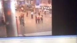 El momento de la explosión en el aeropuerto de Estambul