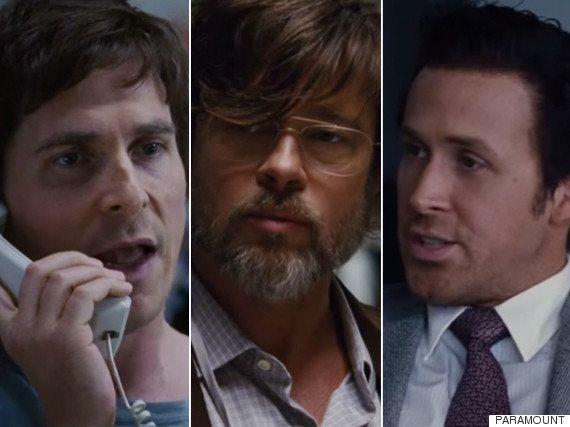 Brad Pitt, Ryan Gosling y Christian Bale comparten cartel en 'The big short'