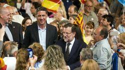 Rajoy y Albiol, recibidos en Reus entre insultos y gritos de