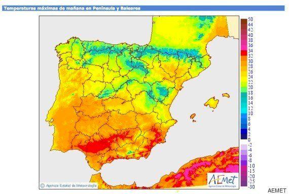 Varias capitales por debajo de los 30 grados por primera vez en más de 50