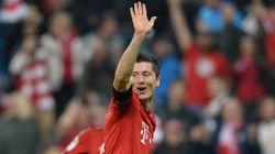 Los cinco goles de Lewandowski... ¡en 9