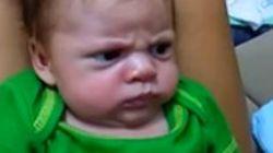 Este es posiblemente el bebé más enfadado del mundo