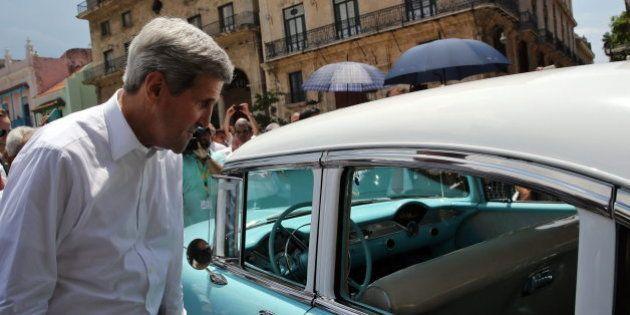 Kerry se reúne con un grupo de opositores cubanos en La