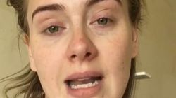 Adele se graba un vídeo enferma para disculparse por suspender un
