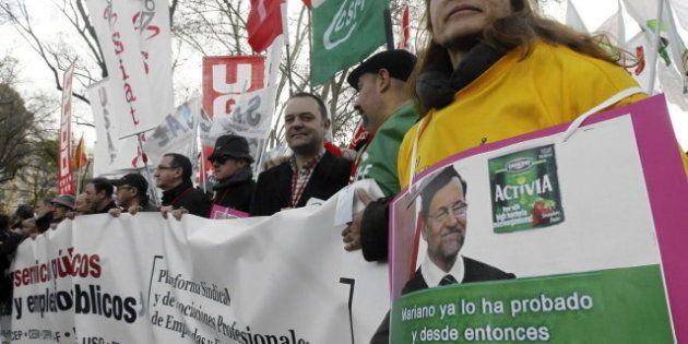 Miles de personas protestan en toda España contra los recortes, el paro y por la