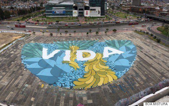 Los tres ingredientes del arte urbano de Boa Mistura: creatividad, trabajo en equipo y mucho