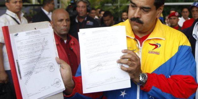 Maduro presenta su candidatura presidencial en Venezuela: