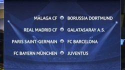 Real Madrid-Galatasaray, PSG-Barça y Málaga-Borussia, en