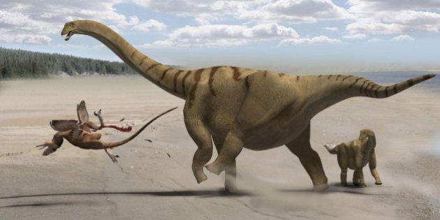 Presentan en Cuenca al titanosaurio de nombre