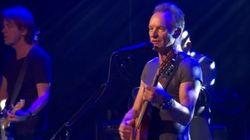 El emotivo homenaje de Sting a las víctimas de