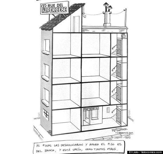 13 Rue del Percebe vacío y con pisos embargados: la parodia viral