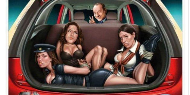 Ford se disculpa por un anuncio que caricaturiza a Berlusconi y mujeres amordazadas y