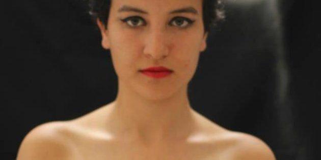 La activista tunecina de Femen, Amina Tyler, está