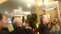 Escrache a Rouco Varela en un hotel de Valladolid