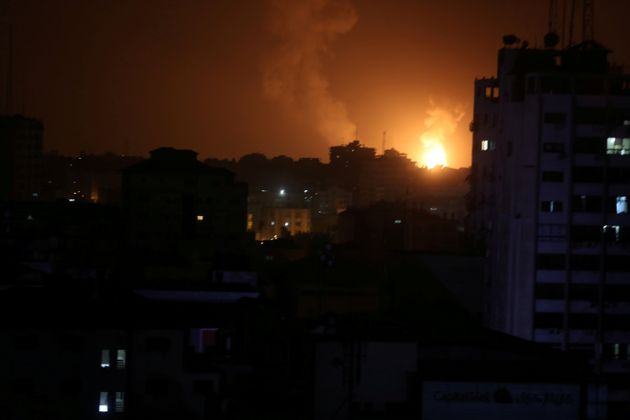 Gaza Bombed By Israeli Aircrafts After Tel Aviv