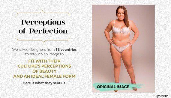 Una misma imagen 'photoshopeada' en 18 países para reflejar sus cánones de