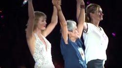 Taylor Swift saca a bailar a Julia Roberts en pleno concierto