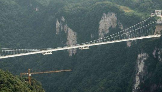 11 fotos del impresionante puente de cristal más grande del