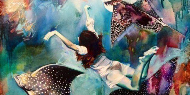 Esta artista de 16 años pinta sus sueños y el resultado es