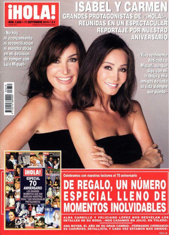 Isabel Preysler y Carmen Martínez-Bordíu: parodias de su portada en '¡Hola!'