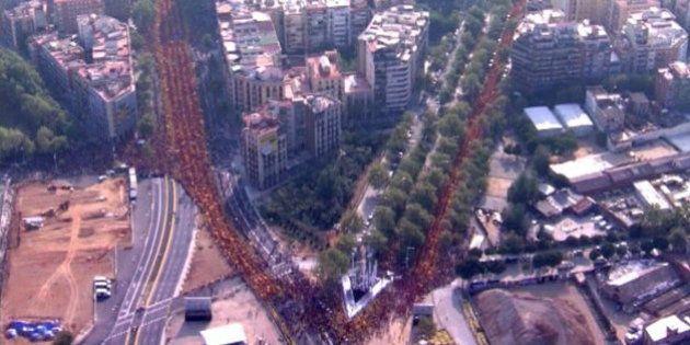 Diada 2014: Cientos de miles de personas claman en Barcelona por el derecho a