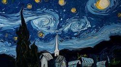 Este artista recrea las obras más famosas de Van Gogh sobre el