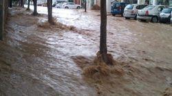 Alerta roja en Málaga por las fuertes