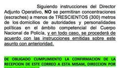 El SUP publica la orden de Interior sobre los escraches y la tilda de