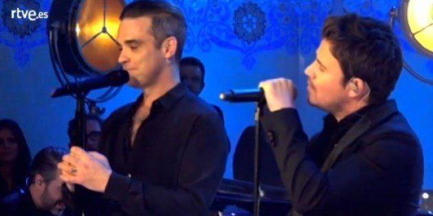 El sorprendente dúo de Dani Martín y Robbie Williams en