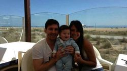 Primera foto del hijo de Messi: ¿Se parecen?