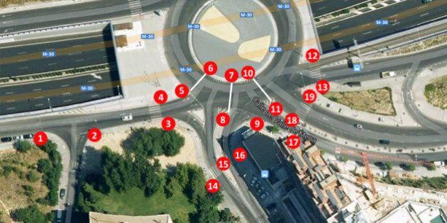 La rotonda de los 19 semáforos: yincana de luces en uno de los accesos a la