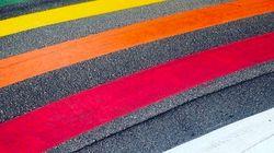 Polémica en Gandia por los pasos de cebra con el color del