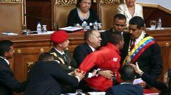 Susto en la investidura de Maduro