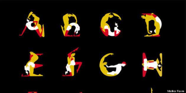 El alfabeto Kamasutra de Malika Favre: La artista crea una tipografía inspirada en las posiciones del...