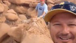 Acaban de destrozar una formación rocosa de 200 millones de años